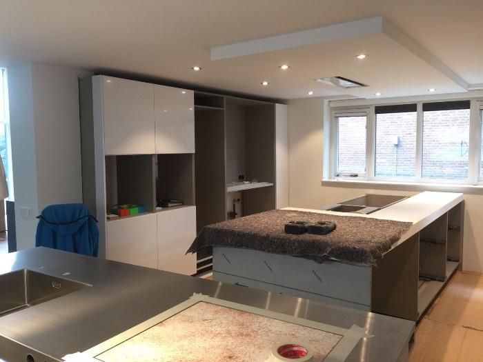 Plafond Afzuigkap Keuken : Project witte italiaanse design keuken snaidero concept store