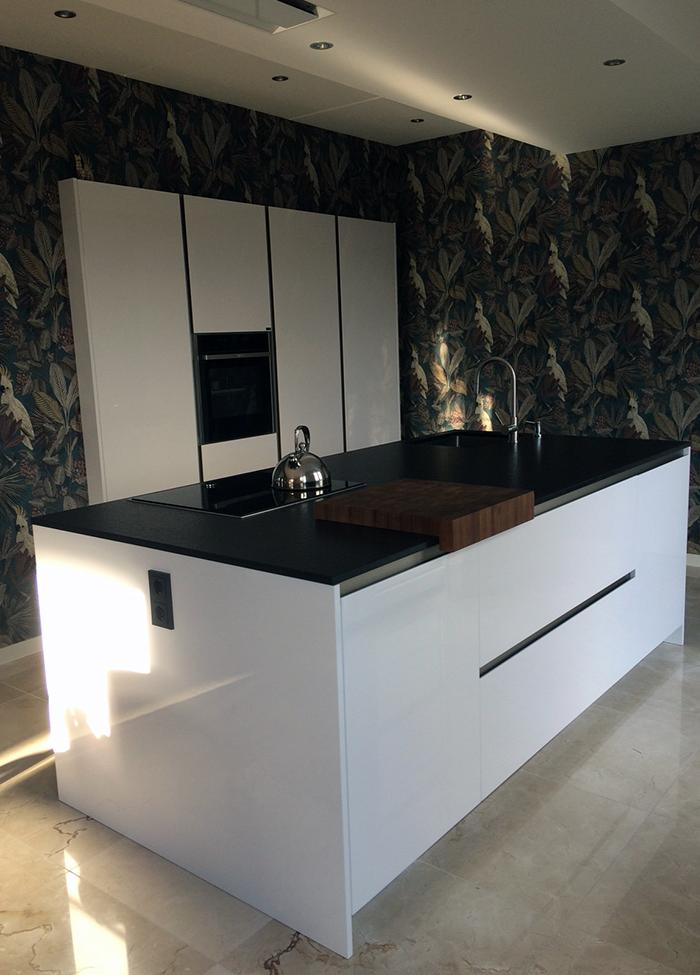 Italiaanse design keuken in hoogglans wit - Project 855