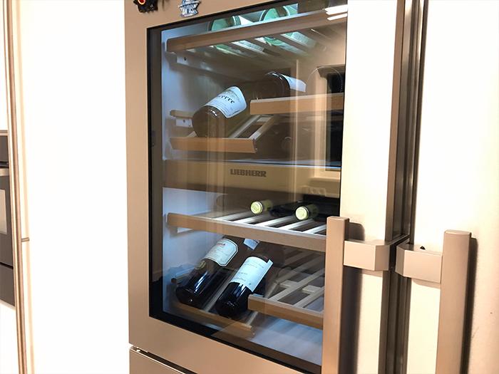 Amerikaanse koelkast met geïntegreerde wijnkoeler