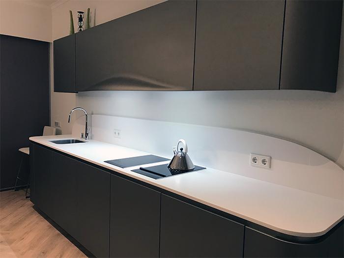 Project 825 - Snaidero Ola 20 keuken in de kleur Grigio Cemento