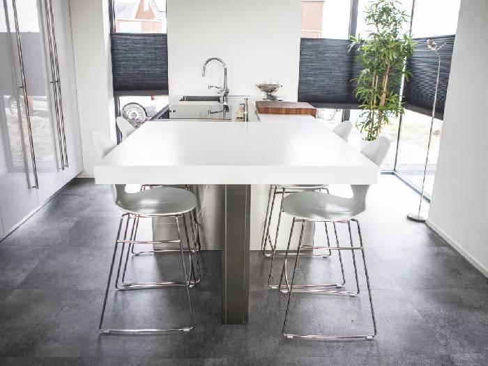Snaidero S10 keuken inclusief kookeiland met Corian werkblad